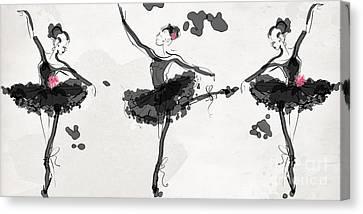 The Met Debut - Dancers In Black Canvas Print by Jodi Pedri