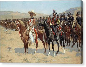 The Mexican Major Canvas Print by Frederic Remington