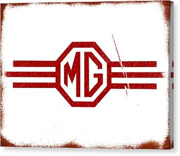 The Mg Sign Canvas Print by Mark Rogan
