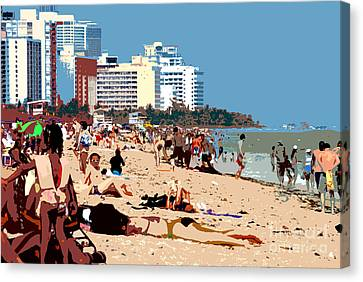The Miami Beach Canvas Print by David Lee Thompson