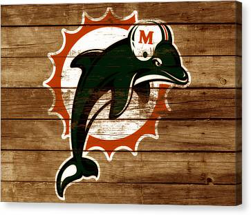 The Miami Dolphins 3a      Canvas Print by Brian Reaves