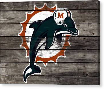 The Miami Dolphins 3e     Canvas Print by Brian Reaves