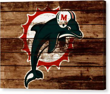 The Miami Dolphins C2      Canvas Print by Brian Reaves