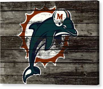 The Miami Dolphins C3   Canvas Print by Brian Reaves