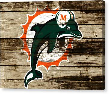 The Miami Dolphins C4      Canvas Print by Brian Reaves