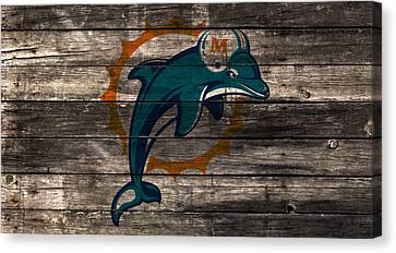 The Miami Dolphins W1 Canvas Print by Brian Reaves
