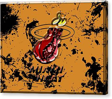 The Miami Heat 1a Canvas Print by Brian Reaves