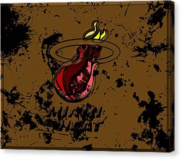 The Miami Heat Canvas Print by Brian Reaves