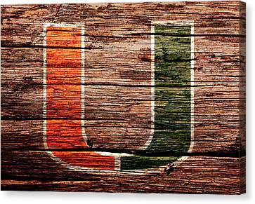 The Miami Hurricanes 1a Canvas Print by Brian Reaves