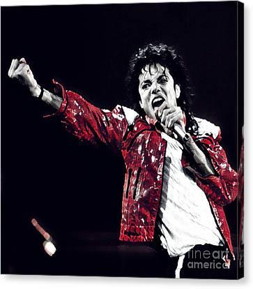 The Michael Jackson's Roar  Canvas Print by Chris X