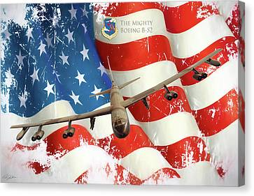 The Mighty B-52 Canvas Print by Peter Chilelli