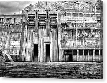 The Mighty Dam Architecture Art By Kaylyn Franks Canvas Print by Kaylyn Franks