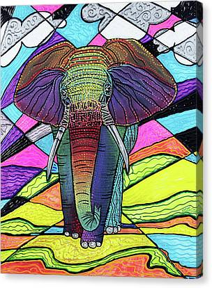 The Mighty Elephant Canvas Print by Laura Barbosa