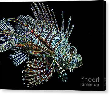 The Mighty Lion Fish Canvas Print by Carol F Austin