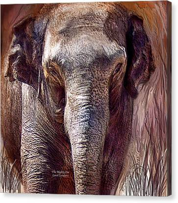 The Mighty One Canvas Print by Carol Cavalaris