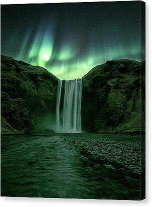 The Mighty Skogafoss Canvas Print by Tor-Ivar Naess