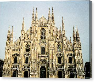 Canvas Print featuring the photograph The Milan Cathedral - Italy by Merton Allen