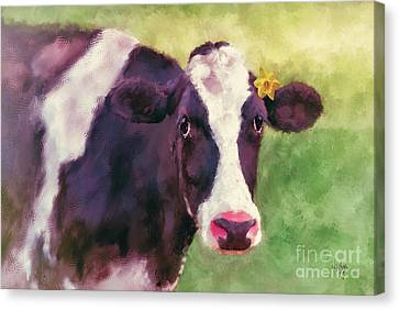 The Milk Maid Canvas Print by Lois Bryan