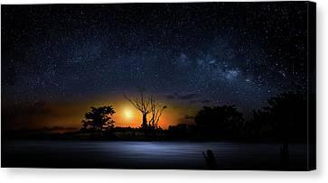 The Milky Way Tree Canvas Print by Mark Andrew Thomas
