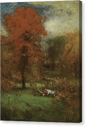 The Mill Pond Canvas Print by George Inness