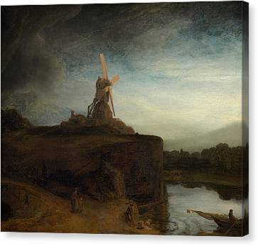 Rembrandt Canvas Print - The Mill by Rembrandt