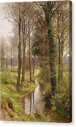 The Mill Stream Canvas Print by Henry Sutton Palmer