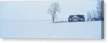 The Miller House, National Elk Refuge Canvas Print by Panoramic Images