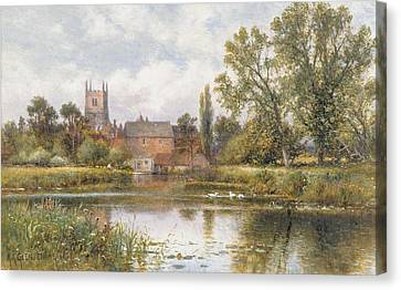 The Millpond Canvas Print by Alfred Glendening
