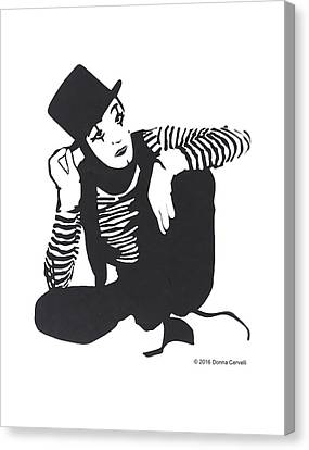 The Mime Canvas Print