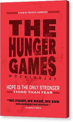 The Minimalist Movie Poster - The Hunger Games - Mockingjay Movie Canvas Print