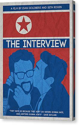 The Minimalist Movie Poster- The Interview Canvas Print