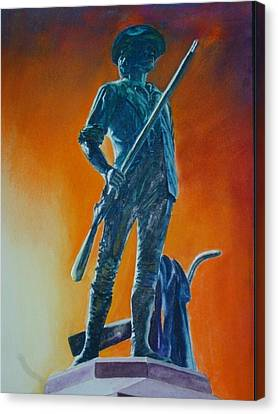 The Minuteman Canvas Print by Dwight Williams