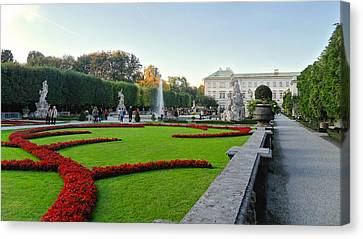 Canvas Print featuring the photograph The Mirabell Palace In Salzburg by Silvia Bruno