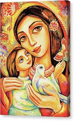 Canvas Print featuring the painting The Miracle Of Love by Eva Campbell