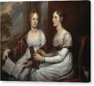 The Misses Mary And Hannah Murray Canvas Print by John Trumbull