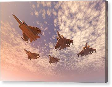 Memorial Day Canvas Print - The Missing Man Formation. by Carol and Mike Werner