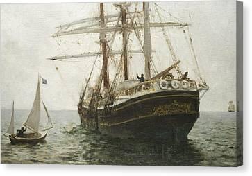Tuke Canvas Print - The Missionary Boat by Henry Scott Tuke
