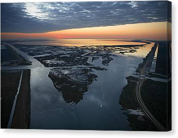 Solar Phenomena Canvas Print - The Mississippi River Gulf Outlet by Tyrone Turner