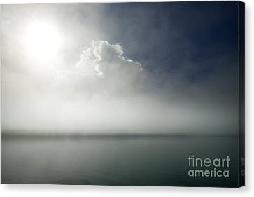 The Misty Silence Canvas Print by Angel  Tarantella