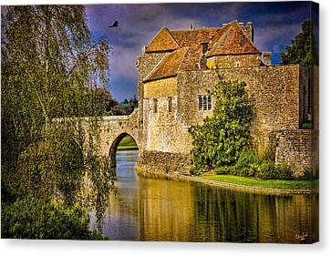 The Moat At Leeds Castle Canvas Print by Chris Lord