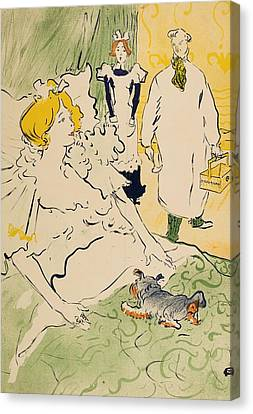 The Modern Worker Canvas Print by Henri de Toulouse-Lautrec