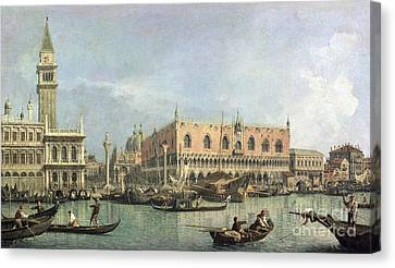 The Molo And The Piazzetta San Marco Canvas Print by Canaletto