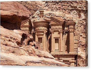 The Monastery. Petra, Jordan. Canvas Print by Nicholas Tinelli