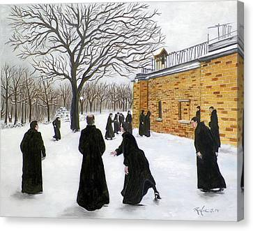 The Monks Of Clear Creek Abby Canvas Print
