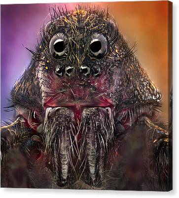 The Monster Canvas Print by Jorge Fardels