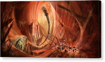 The Monuments Of Mars 1 Canvas Print by Luis Peres