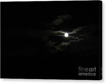 The Moon In Between Canvas Print