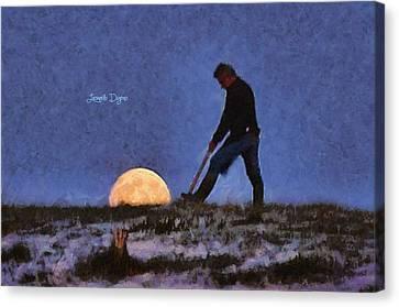 The Moon Keeper - 3 Of 7 - Da Canvas Print by Leonardo Digenio