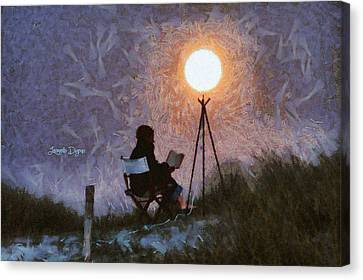 The Moon Keeper - 5 Of 7 - Da Canvas Print by Leonardo Digenio