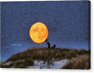 The Moon Keeper - 6 Of 7 Canvas Print by Leonardo Digenio